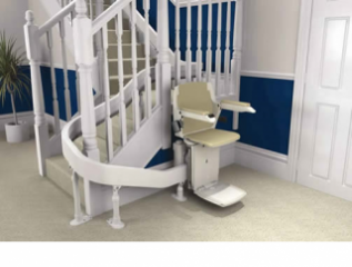 The Brooks Curved Stairlift