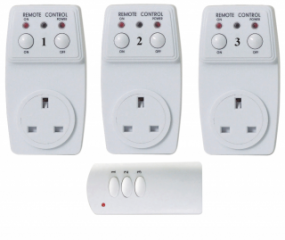 Wireless Plug-In Remote Control Sockets x 3